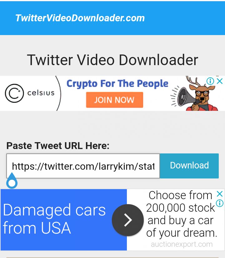 download video from twitter android
